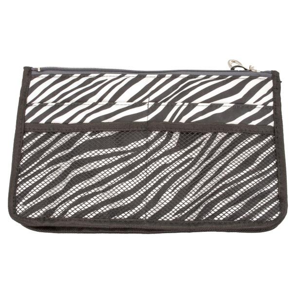 """Cajole 8.5"""" x 5.5"""" Petite Desginer Zebra Nylon Purse Organizer"""