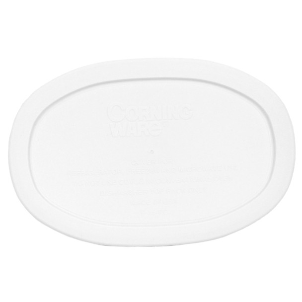 Corningware F-15-PC French White 15oz Oval Casserole Dish Plastic Lid