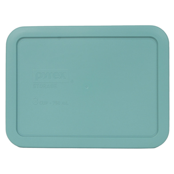 Pyrex 7210-PC Turquoise 3 Cup, 750mL Rectangle Plastic Replacement Lid