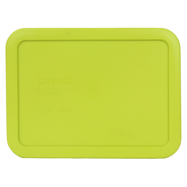 Pyrex 7210-PC 3 Cup Edamame Green Rectangle Plastic Storage Lid
