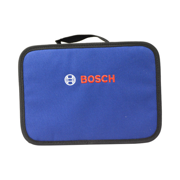 """Bosch 12"""" x 9"""" x 4"""" Soft Sided Dark Blue Compact Carrying Case Tool Bag"""