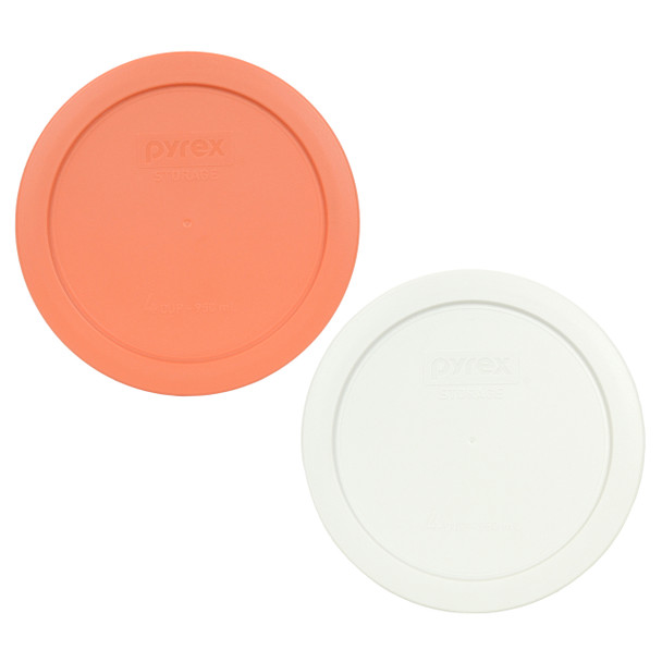 Pyrex 7201-PC (1) Bahama Susnet & (1) White Round Plastic Replacement Lid