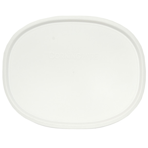 Corningware F-12-PC French White 1.5qt Shallow Baking Dish Plastic Lid