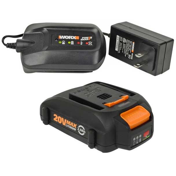 Worx WA3742 20V Charger and (1) WA3575 Lithium-Ion Battery Pack