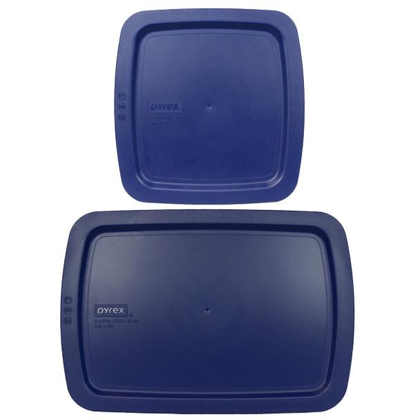 Pyrex C-222-PC 2qt and C-233-PC 3qt Blue Easy Grab Replacement Lids