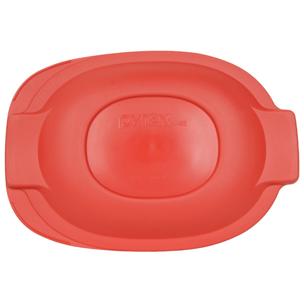 Pyrex 702-PC 2.5qt Red Oval Plastic Replacement Roaster Lid