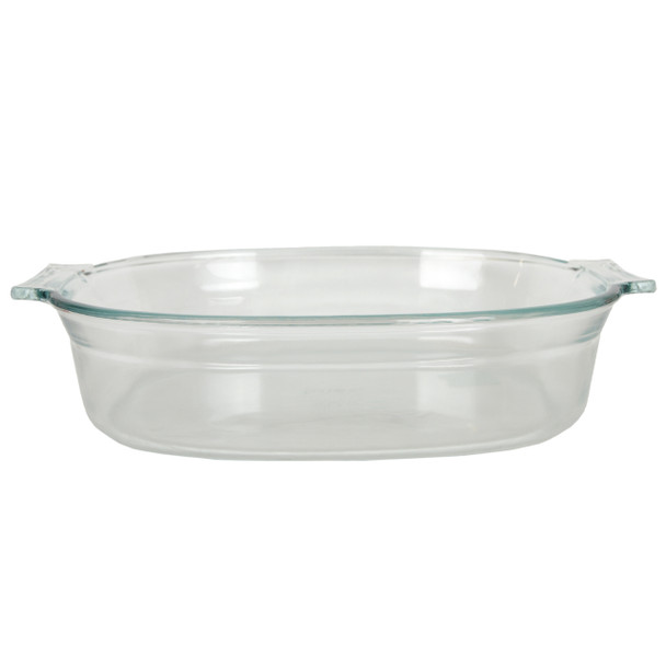Pyrex 702 2.5 Qt Oval Clear Glass Roaster Dish