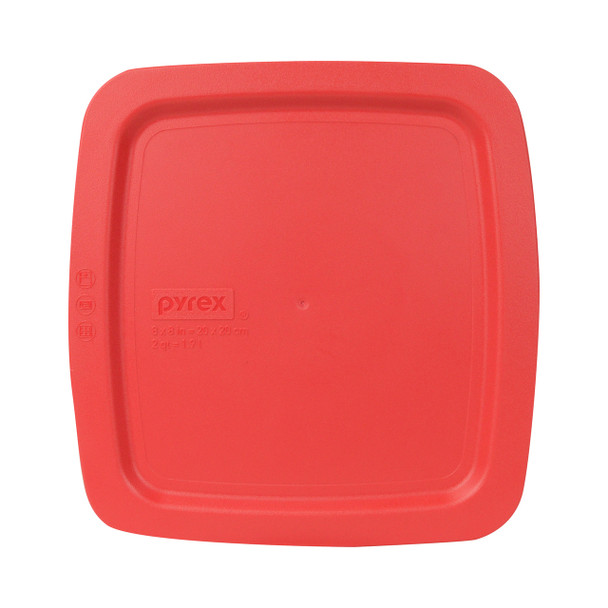 Pyrex C-222-PC 2qt Red Easy Grab Square Plastic Replacement Lid