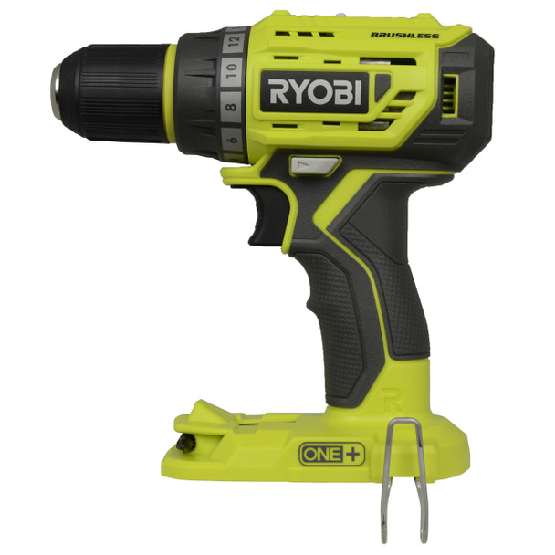 """Ryobi P252 ONE+ 18V 1/2"""" Brushless Lithium Ion Drill Driver, Tool Only"""