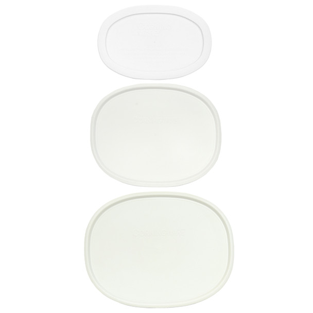 Corningware French White F-2-PC, F-12-PC, and F-15-PC Replacement Lid Set