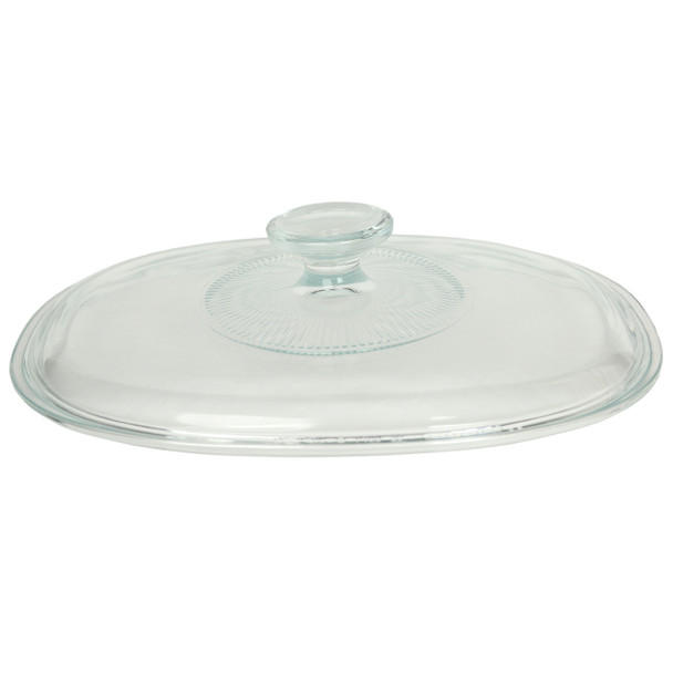 Corningware F-12C Oval Glass Lid Replacement for French White 1.5qt Casserole Dish