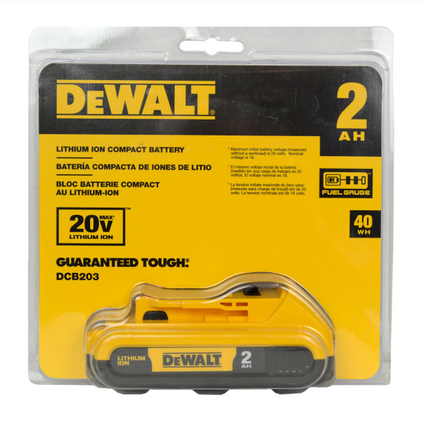 Dewalt DCB203 20V Max 2.0Ah Lithium-Ion Battery Pack