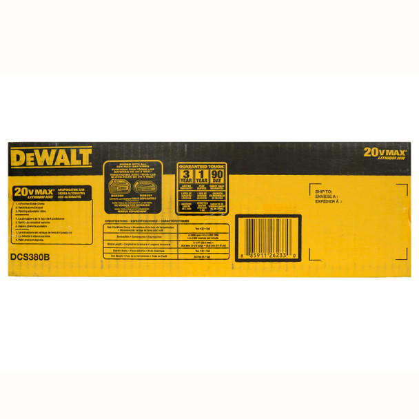 Dewalt DCS380B 20V Reciprocating Saw - Tool Only