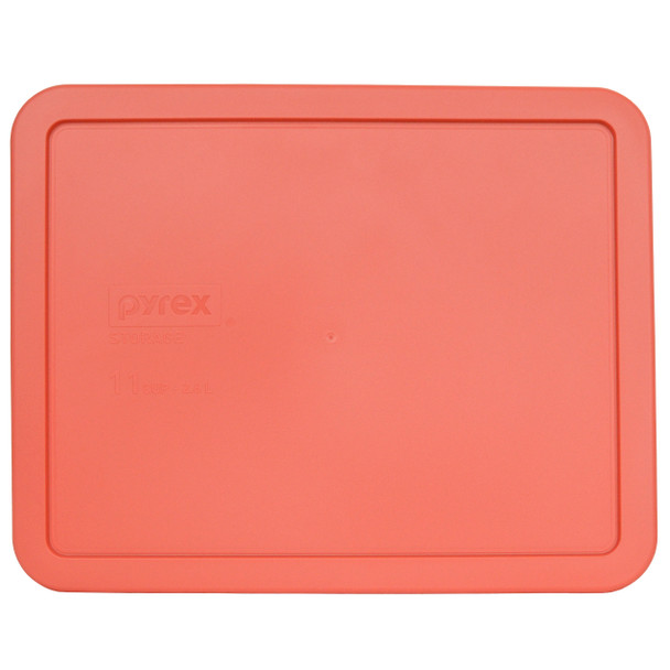 Pyrex 7212-PC Coral Orange 11 Cup Rectangle Plastic Replacement Lid