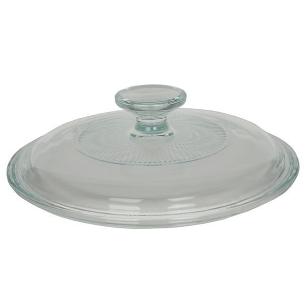 Corningware G-5C French White 1.5 qt Fluted Round Glass Lid