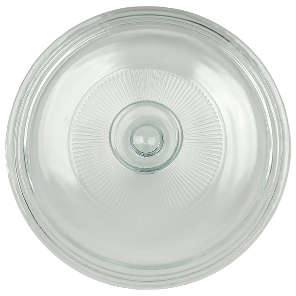 Corningware G-5C French White 1.5 qt Fluted Round Glass Lid