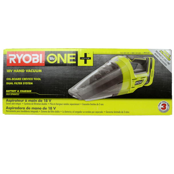 Ryobi P7131 ONE+ 18V Lithium-Ion Cordless Hand Vacuum, Tool Only