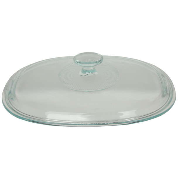 Corningware DC1.5C Fluted Oval Clear Glass Replacement Lid