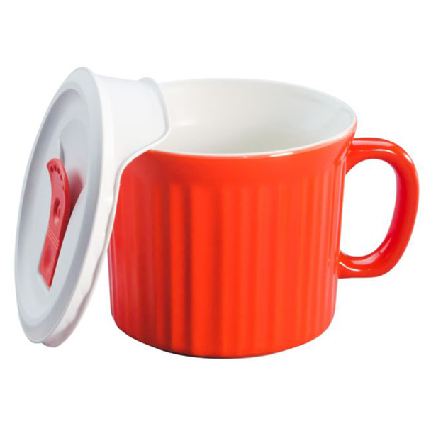 Corningware 1114684 20 oz Orange Meal Mug with Lid