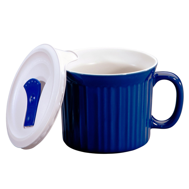 Corningware 1105119 20 oz Blue Meal Mug with Lid