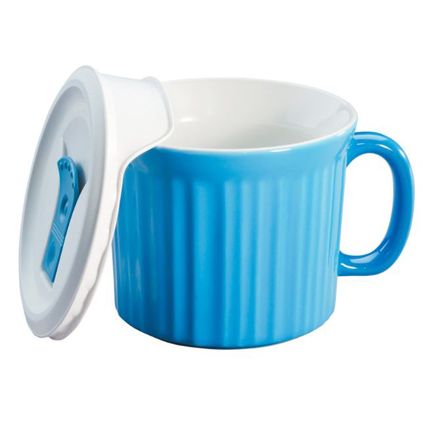 Corningware 1114682 20 oz Light Blue Meal Mug with Lid