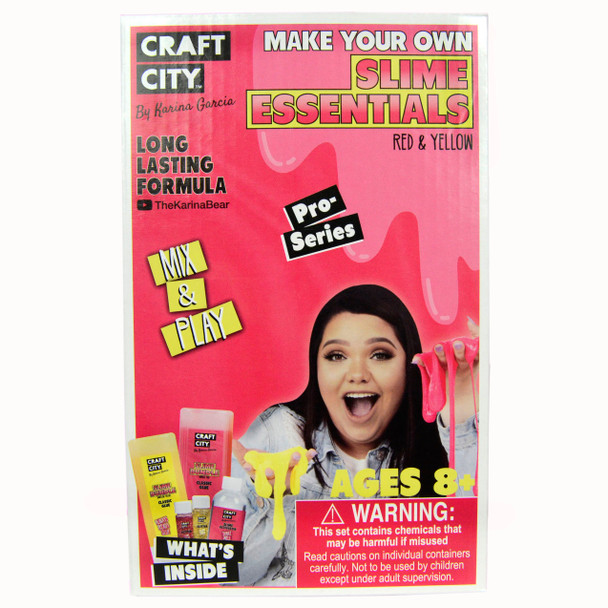 Craft City CC01400.10 Make Your Own Slime Essentials Red & Yellow Pro Series Kit