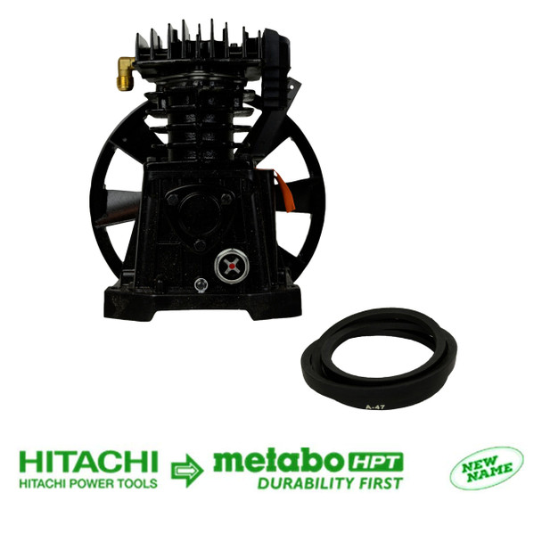 Metabo HPT/Hitachi 885443 885-443 Pumping Unit with Flywheel & 885444 885-444 Belt for EC2510E