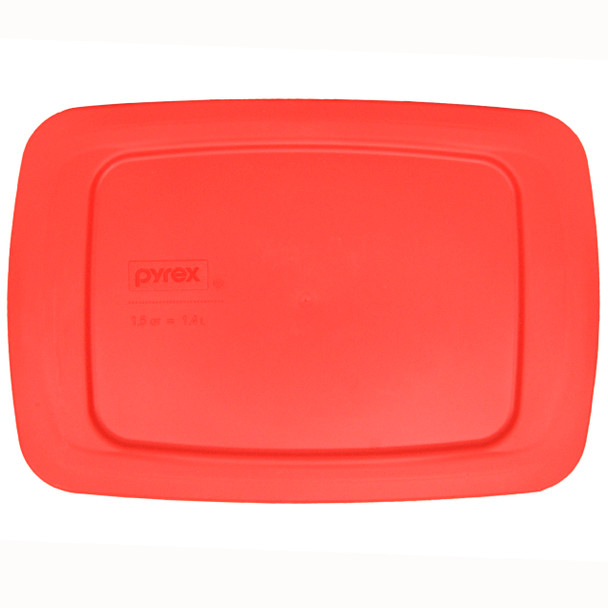 Pyrex C-213-PC Red 1.5qt Easy Grab Rectangle Replacement Lid Cover