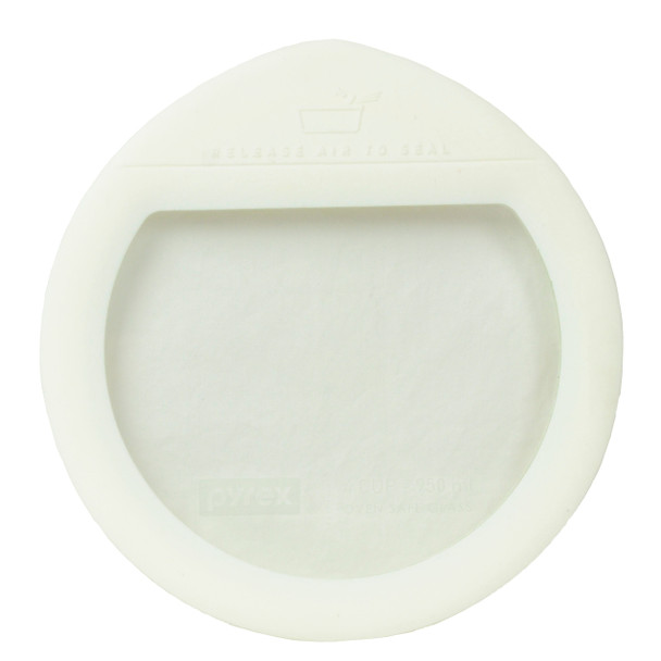 Pyrex Ultimate OV-7201 White Round Glass and Silicone Storage Lid