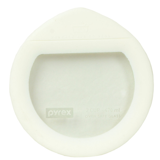 Pyrex Ultimate OV-7200 White Round Glass and Silicone Storage Replacement Lid