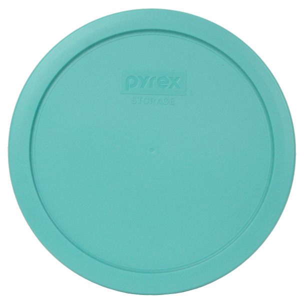 Pyrex 7402-PC Turquoise Round Plastic Replacement Lid Cover