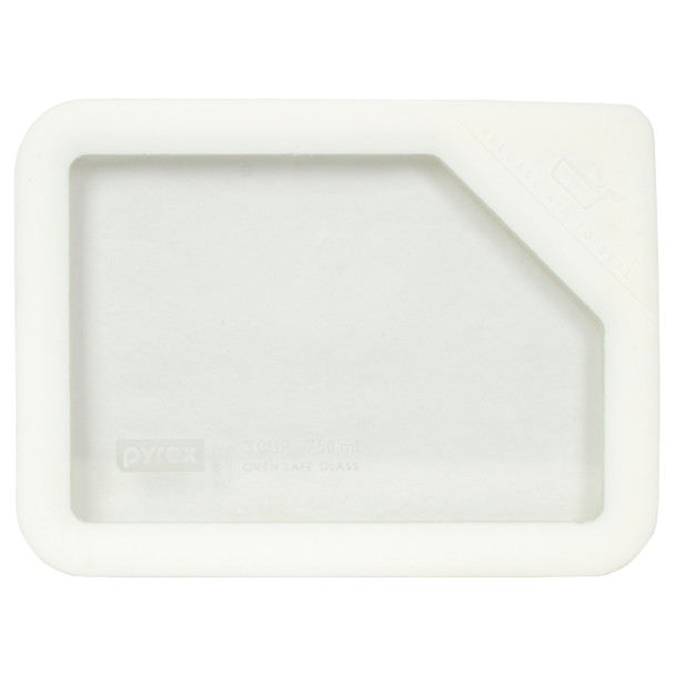 Pyrex Ultimate OV-7210 White Glass and Silicone Storage Replacement Lid