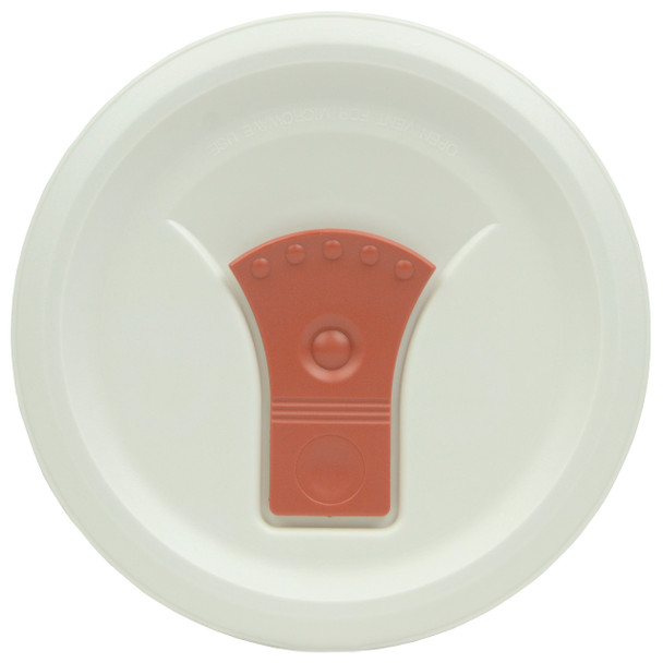 Corningware FM-22-VPC 20oz French White w/ Red Clay Vent Round Soup Mug Pop-Ins Vented Lid