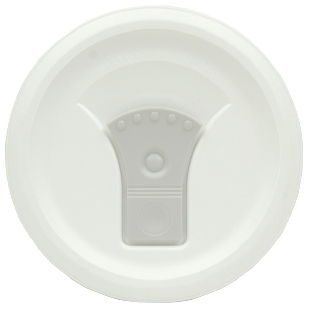 Corningware FM-22-VPC 20oz French White w/ Truffle Gray Vent Round Soup Mug Pop-Ins Vented Lid