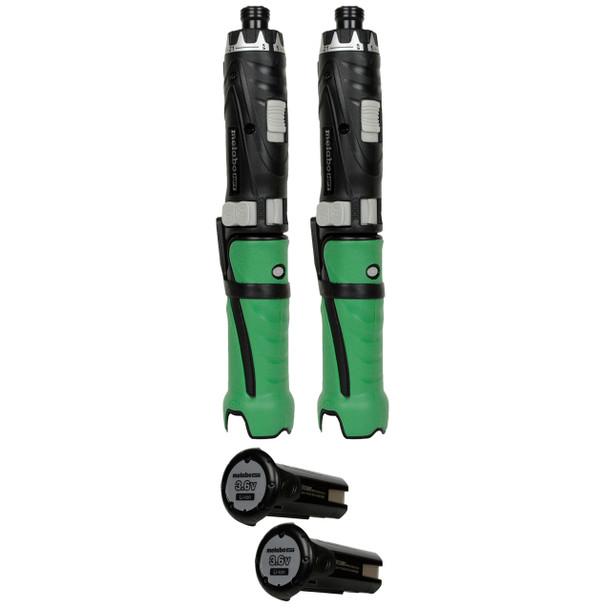 Metabo HPT/Hitachi DB3DL2 3.6V Screwdriver and EBM315 3.6V Battery (2-Pack)