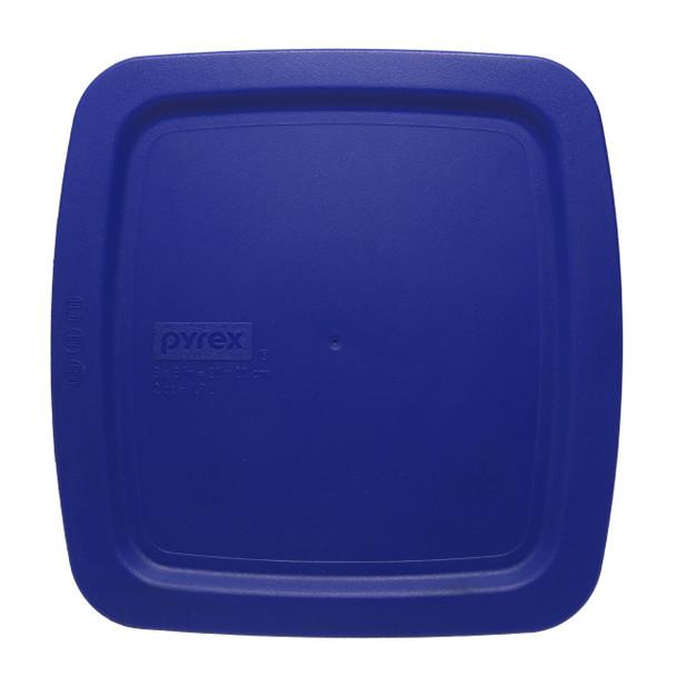 Pyrex C-222-PC 2qt Cadet Blue Easy Grab Square Plastic Replacement Lid