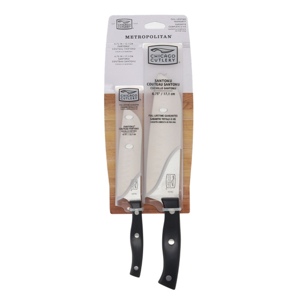 Chicago Cutlery Metropolitan 2-Piece High-Carbon Blade Knife Set