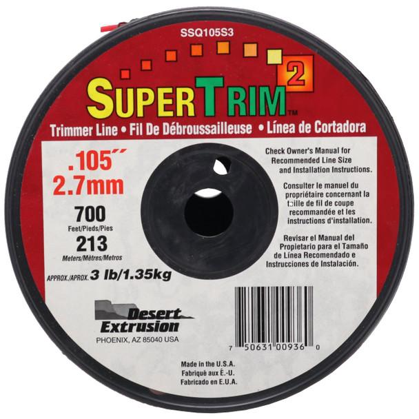 "Desert Extrusion Super Trim SSQ105S3 .105"" x 700-ft String Trimmer Edger Line"
