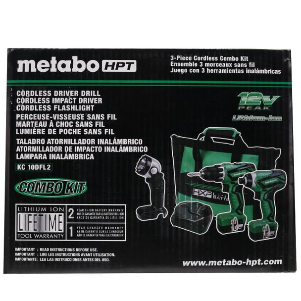 Metabo HPT/Hitachi KC10DFL2M 12V 3-Tool Cordless Lithium-Ion Combo Kit