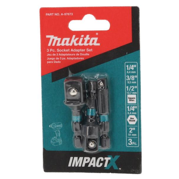Makita A-97673 ImpactX 2-Inch Socket Adapter 3-Piece Set