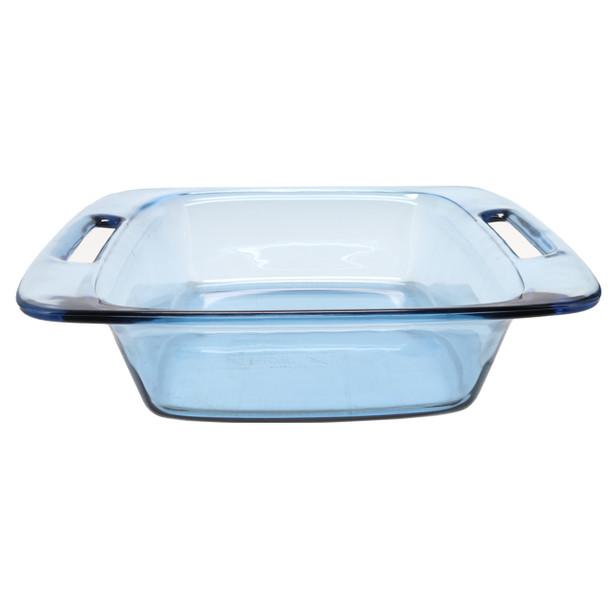 Pyrex C-222 2qt Square Atlantic Blue Glass Food Storage Casserole Baking Dish