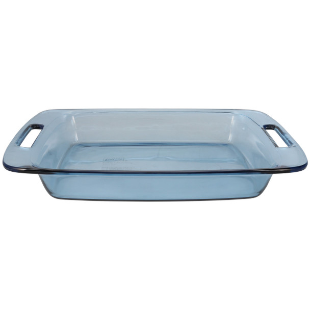 Pyrex C-233 3qt Rectangle Atlantic Blue Glass Food Storage Casserole Baking Dish