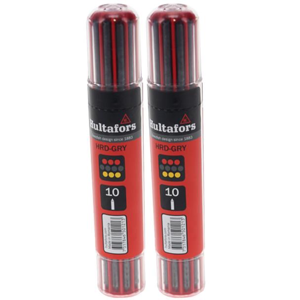 Hultafors 650120 Graphite & Chalk Dry Marker Refill Dispenser for 650100 (2-Pack)