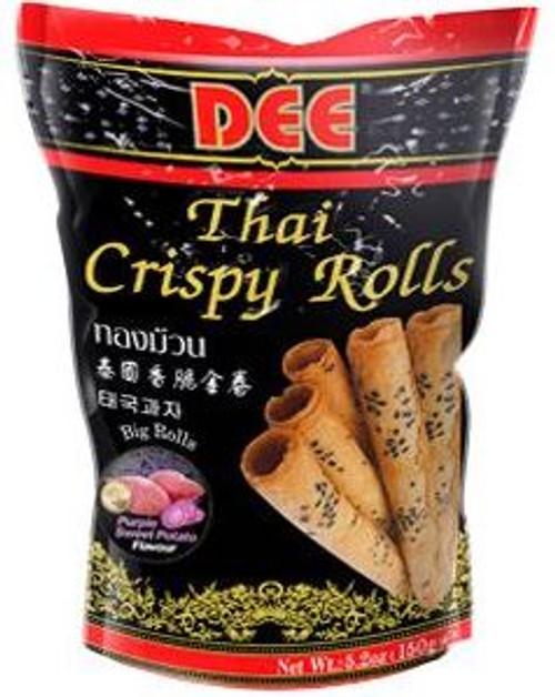 DEE THAI CRISPY ROLL PURPLE POTATO 150G