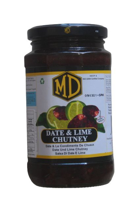 MD DATE & LIME CHUTNEY 450G