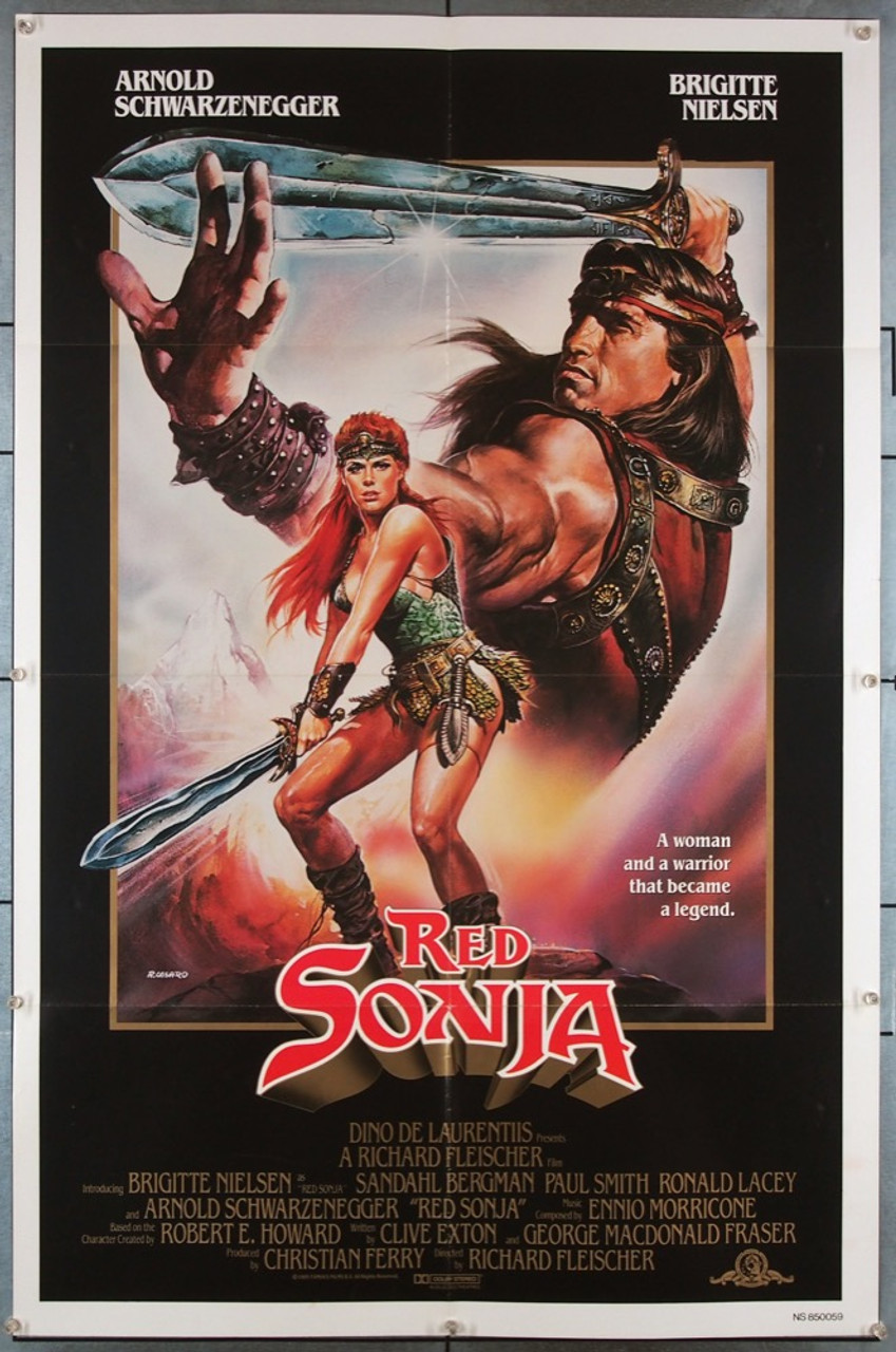 Original Red Sonja 1985 Movie Poster In Vf Condition For 55 00