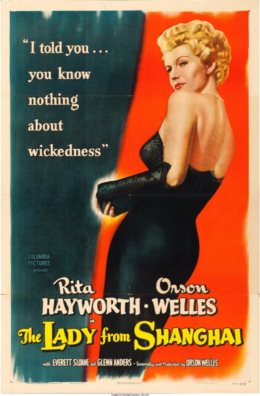 24x36 The Lady From Shanghai Vintage Movie Poster