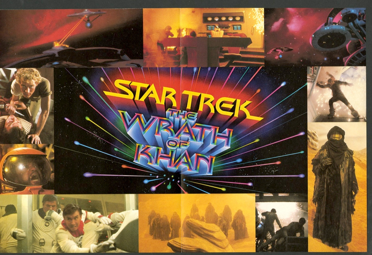 Original Star Trek Ii:The Wrath Of Khan (1982) movie poster in c8 ...