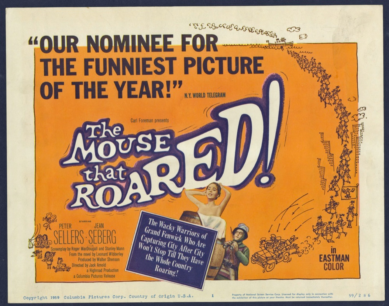 Original Mouse That Roared, The (1959) movie poster in VG ...
