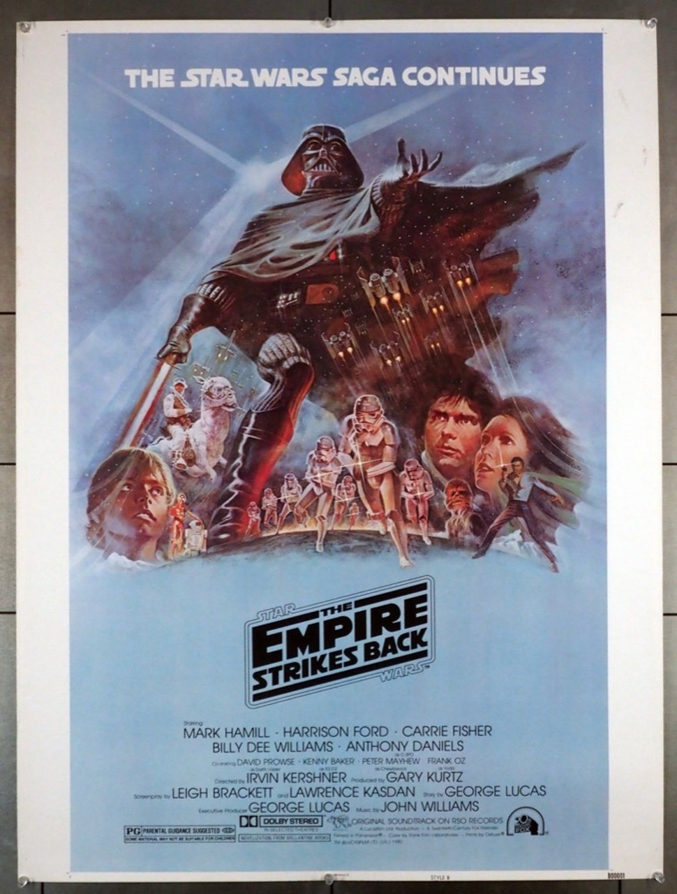 Original Star Wars Episode V Empire Strikes Back The 1980 Movie Poster In Vg Condition For 500